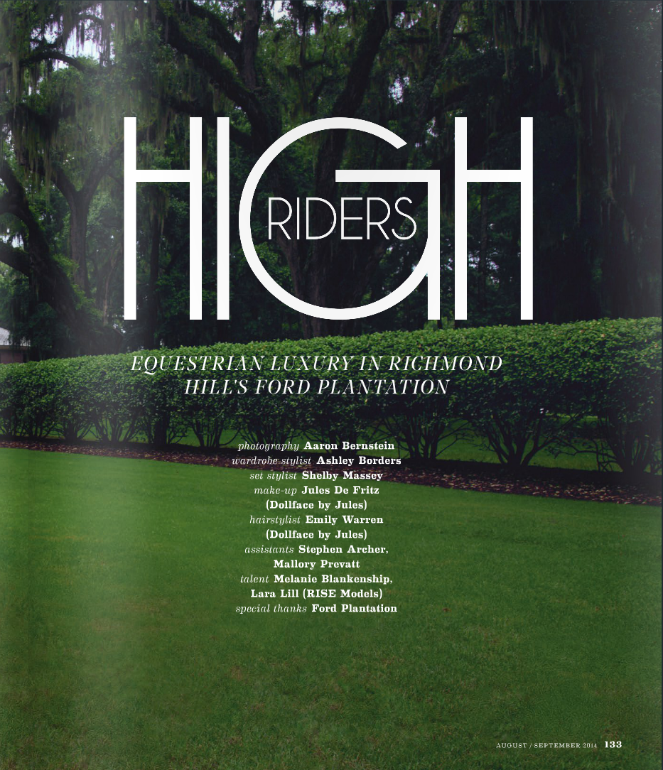 """""""High Riders"""" Editorial Shoot for South Magazine"""